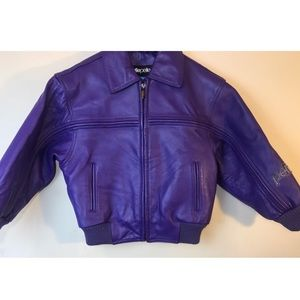 MARC BUCHANAN Boys PELLE PELLE Leather Jacket Sz 4